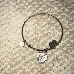 "Alex and Ani ""G"" Charm Bracelet"